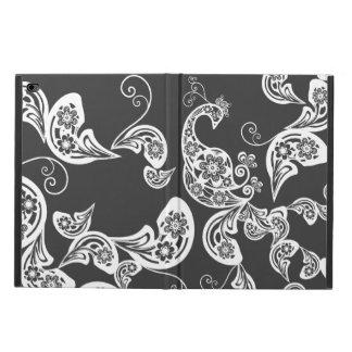 孔雀のBohoの花のヴィンテージの芸術的なiPadの場合 Powis iPad Air 2 ケース