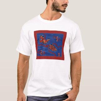 孔雀のButerflyのティー Tシャツ