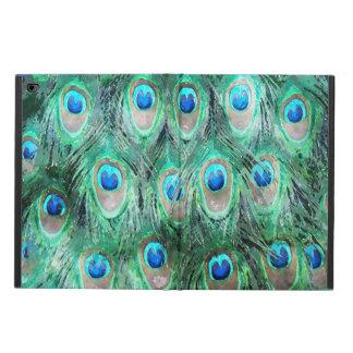 孔雀はエキゾチックな野生の水彩画パターンに羽をつけます POWIS iPad AIR 2 ケース