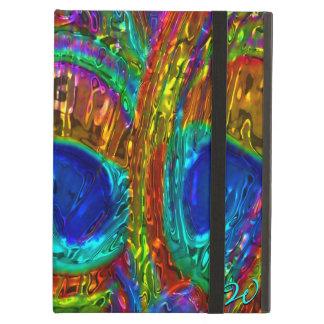 孔雀はガラス芸術1 Powiscaseに羽をつけます iPad Airケース