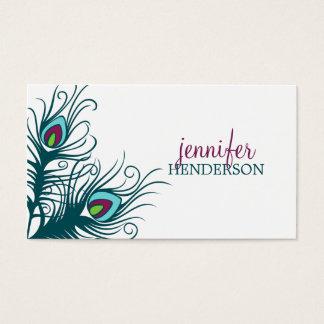 孔雀は個人的なテレホンカードに羽をつけます 名刺