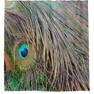 孔雀は熱血な色に羽をつけます シャワーカーテン