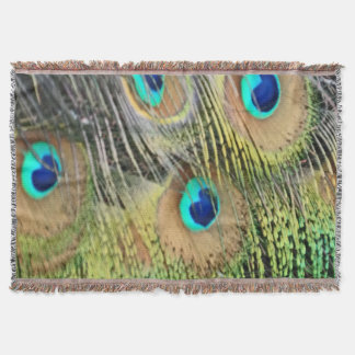 孔雀は目にすべて新しい成長羽をつけます スローブランケット