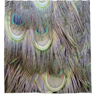 孔雀は色を紛砕する大きい目に羽をつけます シャワーカーテン