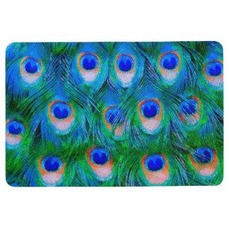 孔雀は芸術に羽をつけます フロアマット