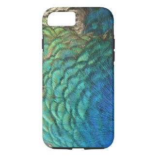 孔雀はIのカラフルの抽象芸術の自然のデザインに羽をつけます iPhone 8/7ケース