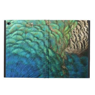 孔雀はIのカラフルの抽象芸術の自然のデザインに羽をつけます POWIS iPad AIR 2 ケース
