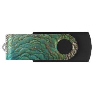 孔雀はIのカラフルの抽象芸術の自然のデザインに羽をつけます USBフラッシュドライブ