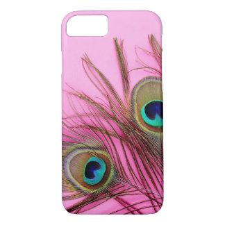 孔雀はiPhone 7の箱に羽をつけます iPhone 8/7ケース