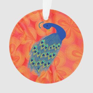 孔雀を持つレトロのオレンジ オーナメント