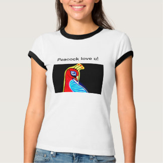 孔雀愛 Tシャツ