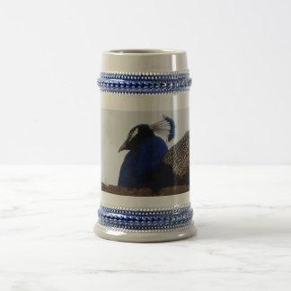 孔雀灰色の/Blue 22 ozステイン ビールジョッキ
