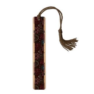 孔雀花のインドの壁紙のヴィンテージ ブックマーク