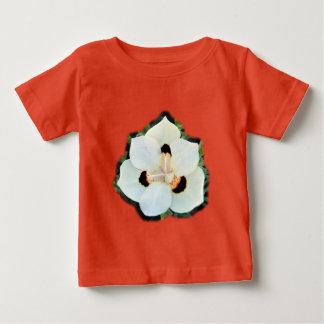 孔雀花のベビーの罰金のジャージーのTシャツ ベビーTシャツ