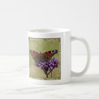 孔雀蝶マグ コーヒーマグカップ