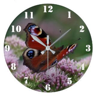 孔雀蝶時計 ラージ壁時計