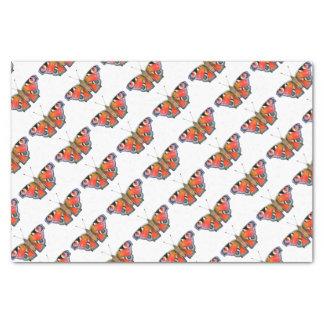孔雀蝶絵画の水彩画 薄葉紙