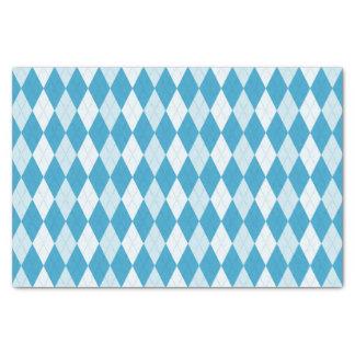 孔雀青のアーガイル柄ので小さいダイヤモンドの形 薄葉紙