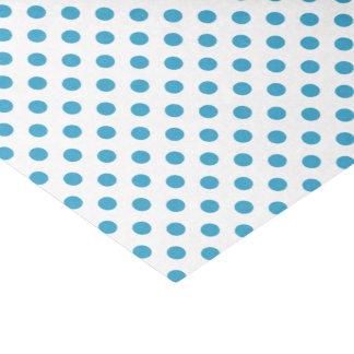 孔雀青の水玉模様の円 薄葉紙