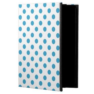 孔雀青の水玉模様の円 POWIS iPad AIR 2 ケース