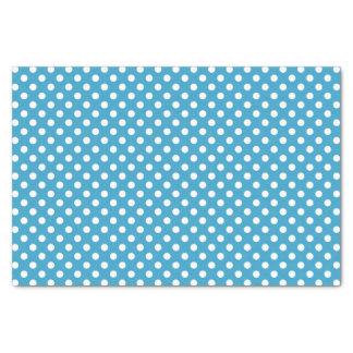 孔雀青の背景の白い水玉模様 薄葉紙