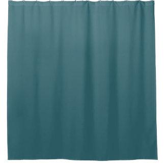 孔雀青の(暗いティール(緑がかった色)か深いの水)無地 シャワーカーテン