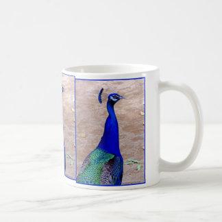 孔雀 コーヒーマグカップ