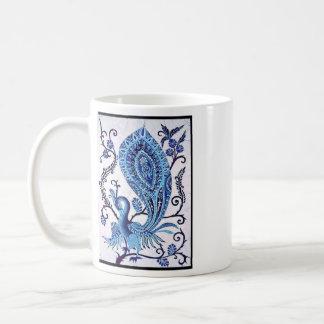 孔雀、孔雀 コーヒーマグカップ