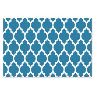 孔雀、白いモロッコのクローバーパターン#4 薄葉紙