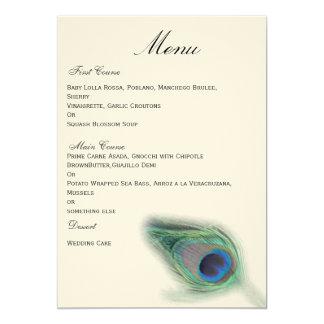 孔雀|結婚|メニュー 12.7 X 17.8 インビテーションカード