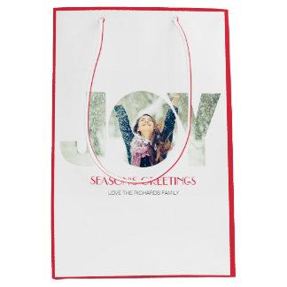 季節のごあいさつ(赤い) ミディアムペーパーバッグ