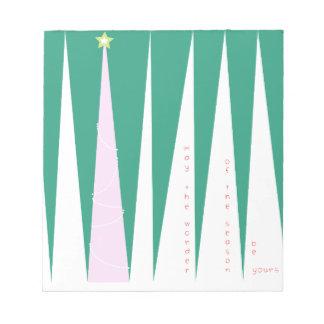 季節のクリスマスツリーの驚異 ノートパッド