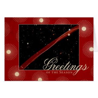 季節のハッブルの宇宙のリボンの挨拶 グリーティングカード
