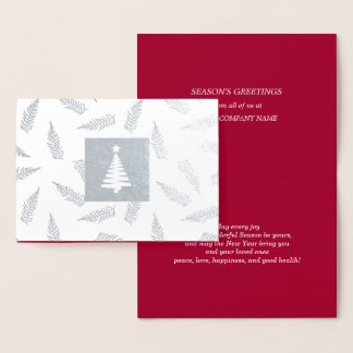 季節の挨拶のカスタムなクリスマスカード 箔カード