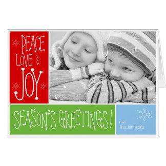 季節の挨拶の休日カード カード