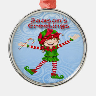 季節の挨拶の小妖精や小人の優れた円形のオーナメント メタルオーナメント