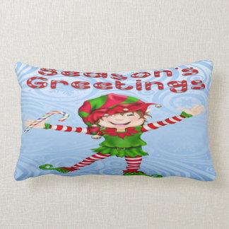 季節の挨拶の小妖精や小人のLumbarの枕 ランバークッション