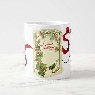 季節の挨拶! ジャンボコーヒーマグカップ