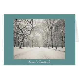 季節の挨拶-セントラル・パークの詩人の歩行 カード