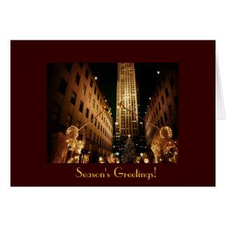 季節の挨拶-ロックフェラーのクラシックな中心 カード
