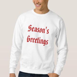 季節の挨拶。 赤と白フェスティバル。 カスタム スウェットシャツ