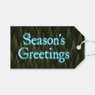 季節の挨拶-針葉樹 ギフトタグ