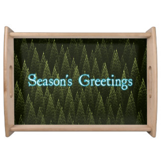 季節の挨拶-針葉樹 トレー