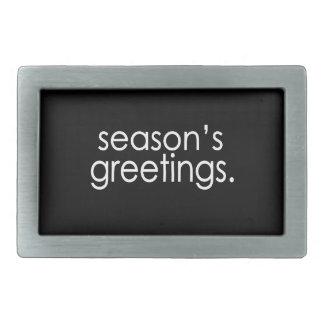 季節の挨拶 長方形ベルトバックル