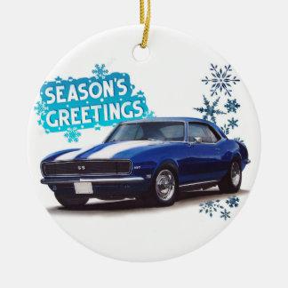季節の挨拶Camaro セラミックオーナメント