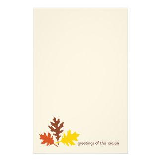 季節の文房具の紅葉の挨拶 便箋