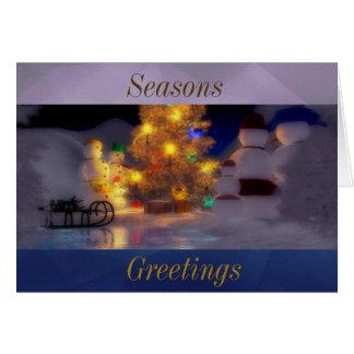 季節への家族の挨拶 カード