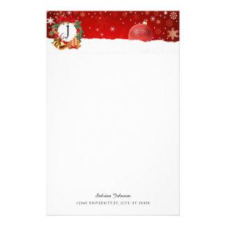 季節的なクリスマスのデザイン 便箋