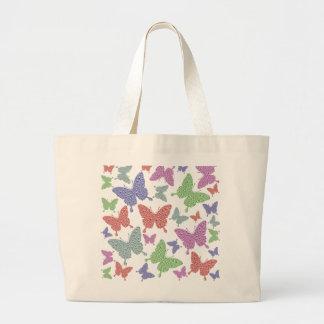 季節的な蝶ジャンボトートバック ラージトートバッグ