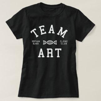 孤児の黒いチーム芸術 Tシャツ